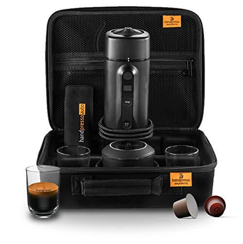 Handpresso 48310 Auto Capsule Set 12V / 24V (Zigarettenanzünder) schwarz - tragbare Espressomaschine für Nespresso®* Kapseln