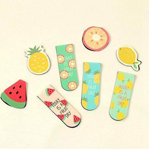 Segnalibri YHDNCG, segnalibri magnetici per gelato alla frutta, cancelleria, scuola e ufficio, segnalibri portatili