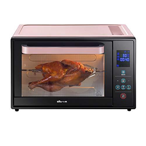 JCOCO Four domestique 30L avec réglage de la température 0-230°C et minuterie intelligente 1600W Four double porte en verre