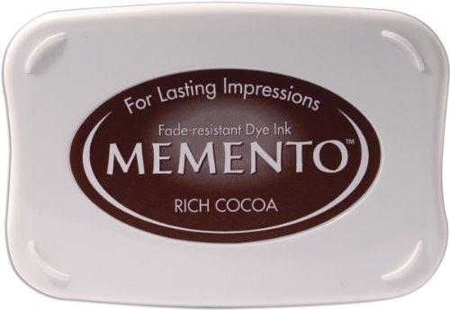 Tsukineko Memento Stempelkissen Geschmackvoller Kakao, Synthetic Material, braun, 9.9 x 6.6 x 1.8 cm