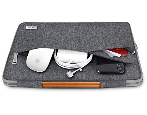 TECOOL 15-15.6 Zoll Laptop Hülle Tasche Notebook Aktentasche Tragetasche Stoßfestes Schutzhülle mit Fronttasche für Acer/Asus/Dell/HP/Huawei/Lenovo/Samsung Laptops Notebooks, Dunkelgrau