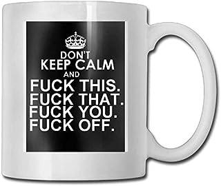 11 oz tasse à café tasse en céramique cadeau mode ne gardez pas calme personnalisé