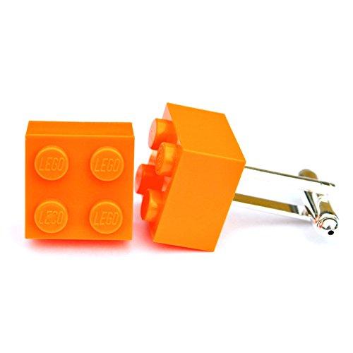 LEGO® Manschettenknöpfe (orange) Hochzeit, Groom, Herren Geschenk