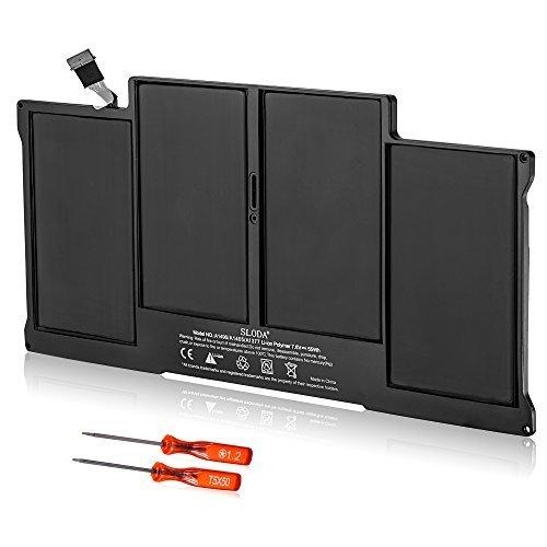 SLODA Nouvelle Batterie d'ordinateur Portable Pour Apple Macbook Air 13 pouces (version 2010) A1377 020-7379-A A1369 MC503 MC504 [Li-Polymer]
