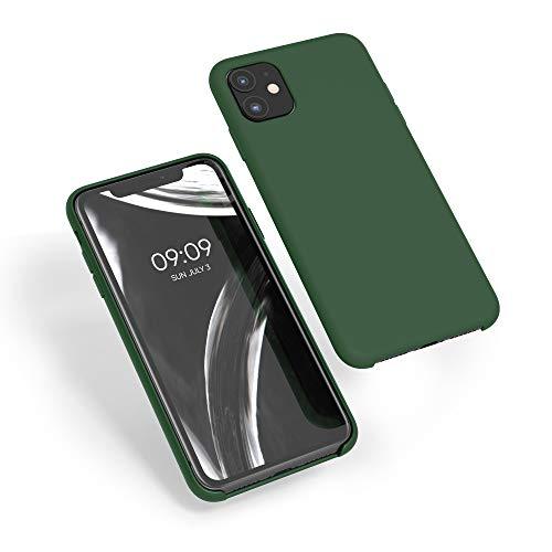 kwmobile Cover Compatibile con Apple iPhone 11 - Custodia in Silicone TPU - Back Case Protezione Cellulare Verde Scuro