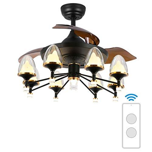 N / A Deckenventilatoren 42-Zoll-Deckenventilatoren Beleuchtung für Schlafzimmer/Halle - im europäischen Stil (mehrfache Farbe),F