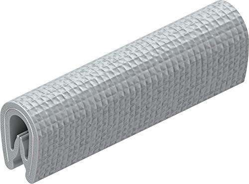 CTA Dichtungen 1 m Kantenschutz Kantenschutzprofil Dichtprofil KB 1-2 mm PVC silber 1C10-04-02