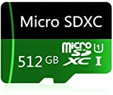 512GB Micro SD Memory Card High Speed Class 10 Micro SD SDXC Card with SD Adapter