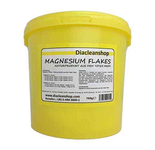 Magnesium Flakes aus dem Toten Meer 750g – Magnesiumkristalle aus Magnesiumchlorid – 100% Naturprodukt - u.a. zur Herstellung von Magnesiumöl, Magnesium Spray, Magnesium Fußbad, Magnesium Vollbad uvm