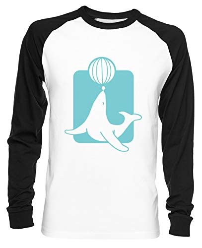 Sneeuw Zegel Unisex Baseball T-shirt Mannen Dames Wit Unisex Baseball T-shirt Men's Women's White