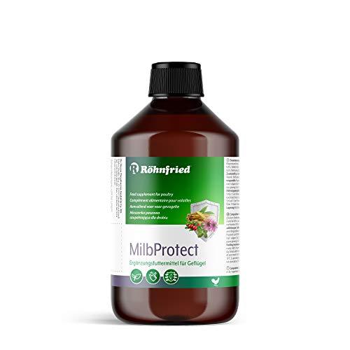Röhnfried MilbProtect 500 ml I Milben natürlich fernhalten I Ergänzungsfuttermittel für Geflügel I fördert Fresslust I Kräuter I Ganzjahresprodukt
