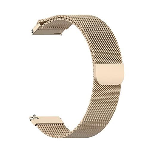 Correa de reloj magnética de malla metálica de liberación rápida de acero inoxidable milanés, correas de repuesto ajustables para mujeres y hombres, 16 mm, 18 mm, 20 mm, 22 mm, 24 mm (22 mm, oro rosa)