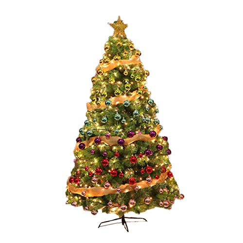 NgFTG Gradient Artificial Christmas Tree,Home Decor Hinged Christmas Pine Tree,Pre-Bed Premium Xmas Pine Tree for Decoration