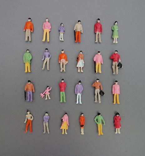 100x Modell Stehende Figuren-Menschen Handbemalt 1:100 Spur TT - Typ B