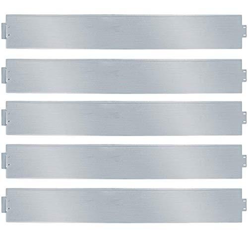 wolketon Rasenkante 15m 100x14cm Metall Beetumrandung verzinkt Mähkante Beeteinfassung - Länge 15m Höhe 14cm Palisade