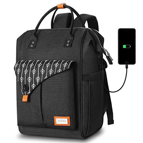 Mochila Mujer con Puerto de USB, Mochila para Portátil 15,6 Pulgadas, Multifuncional Mochila Portátil para Negocio, Viaje, Trabajo