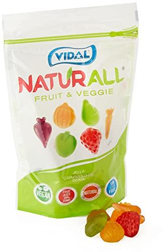 Vidal Golosinas Naturall Fruit & Veggie. Caramelo De Goma Vegano Sin Colorantes Y Aromas Naturales. Sabores De . Doypack, Frutas Y...