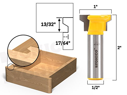 Yonico 15033 Reversible Drawer Front Joint Router Bit 1/2-Inch Shank