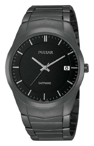 Pulsar Herren Analog Quarz Uhr mit Edelstahl beschichtet Armband PS9141X1