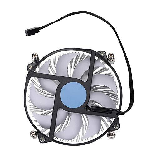 Ventilator, ultradunne CPU-koeler met sterke warmteafvoer, CPU-koellichaam en ventilator voor Intel 115-serie, stille ventilator met hydraulische technologie(standaard)
