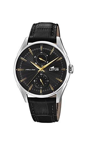 Lotus Watches Reloj Multiesfera para Hombre de Cuarzo con Correa en Cuero 18523/4