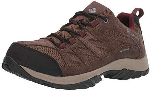 Columbia Women#039s Crestwood Waterproof Hiking Shoe Dark Truffle Rich Wine 6 Regular US