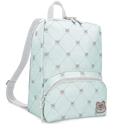 Controller Gear Animal Crossing: New Horizons - Tom Nook Quilted - Small Backpack for Women, Girl's Cute Mini Bookbag Purse, Travel Bag for Nintendo Switch Console & Accessories - Nintendo Switch