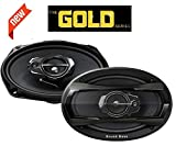 Sound Boss Performance Auditor Gold Series SB-6979 6x9 3-Way 480W Co-Axial Car Speakers