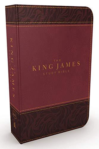 KJV, The King James Study Bible, Leathersoft, Burgundy, Red Letter, Full-Color Edition: Holy Bible, King James Version