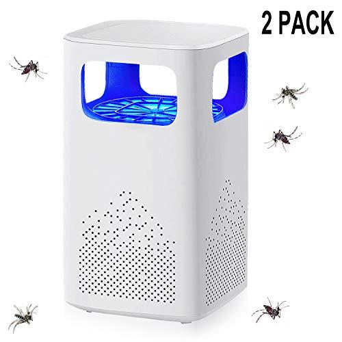 QiCheng&LYS - Mateador de moscas con bombilla UV brillante e independiente, puede matar moscas, insectos, mosquitos y avispas para uso interior y exterior (2 unidades)