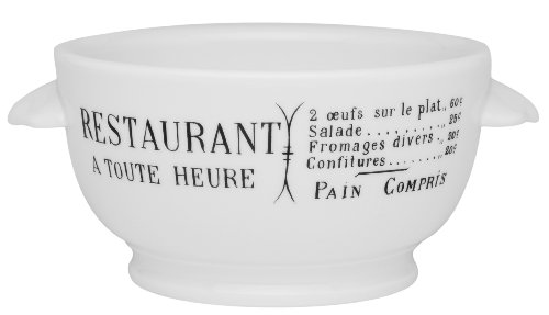 Pillivuyt Brasserie Eared Onion Soup Bowl, 15 Ounce Capacity