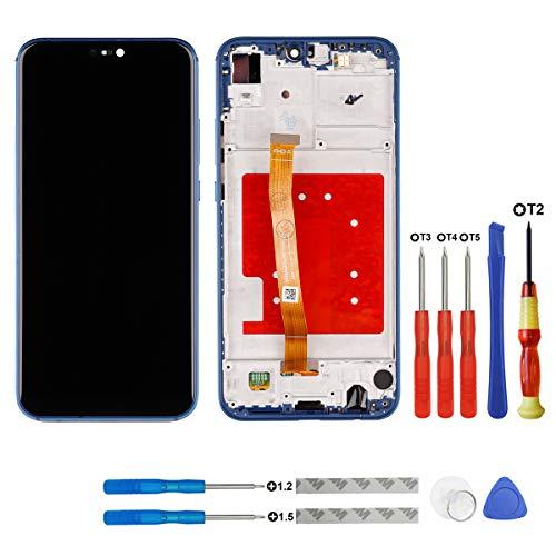 Swark - Pantalla LCD compatible con Huawei P20 Lite NE-TL00, ANE-LX1-3, ANE-LX2J, ANE-AL00, ANE-L23, ANE-L22, ANE-L21, HWV32/Nova 3e (incluye herramientas), color azul