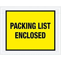 Boxes Fast Tape Logic Packing List Enclosed Envelopes 7 x 5 1/2 Yellow (Pack of 1000) [並行輸入品]