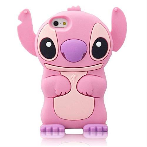 per iPhone 5 5s 5C SE 6 6s Plus Custodia Morbida in Silicone 3D Cover Posteriore per Telefono Custodia Protettiva per iPhone 7 7Plus 8 8Plus X XS XR XS Max CustodiaiPhone XS Max Pink Stitch