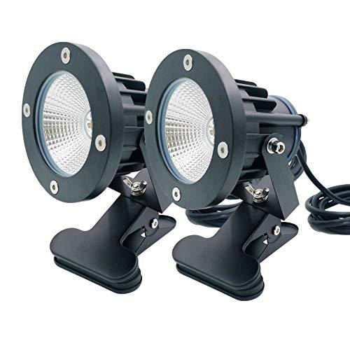 昼光色 防水 LEDクリップライト 小型 防雨 防水型 7W 60W型相当 スイッチなし コード長3m 看板用 黒板用照明 店舗看板用 店頭看板 LEDライト 電気スタンド デスクスタンド アームライト ピッコロライト アウトドア エクステリアライト (昼