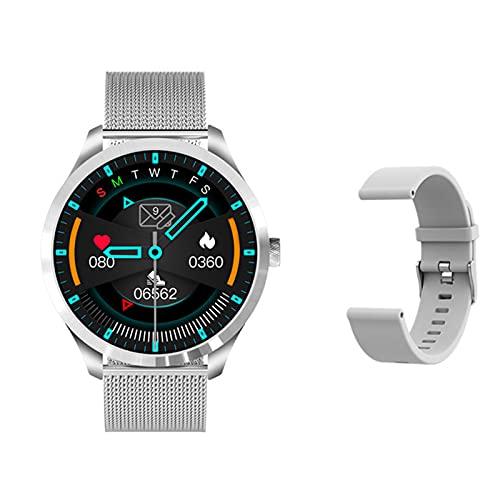 YDK Q9l Sports Smart Watch, Bluetooth Touch Scree Soche Fitness Tracker Monitoreo De Salud Presión Arterial Tasa del Corazón Reloj Inteligente Smart Watch,C