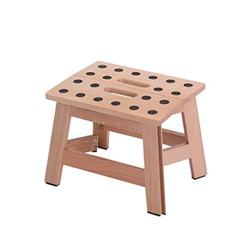 LDM Taburete Plegable, Asiento Plegable multifunción para Patio jardín Muebles para el hogar Taburete portátil de Madera Maciza para Sala de Estar o Camping
