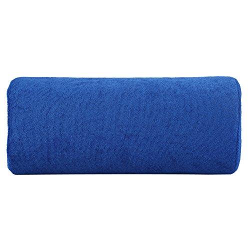 Coussin d'art d'ongle, costume d'oreiller de coussin de repos de main d'oreiller de manucure pour le salon d'ongle et l'usage à la maison, 30 * 13 cm(bleu royal)