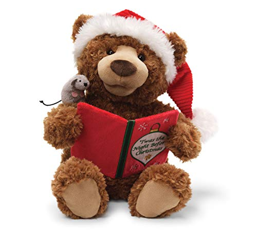 GUND Storytime Teddy Bear Animated Holiday Stuffed Animal Plush, 13'