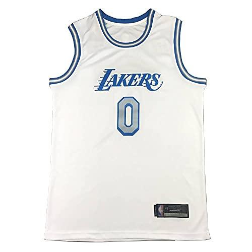 ZHOUJEE Westbrook Lakers n.º 0 - Camiseta de baloncesto, 0#Cityversion White, S