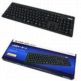 スリーアールシステム 3R-KCKB03UBK USB接続キーボード 黒