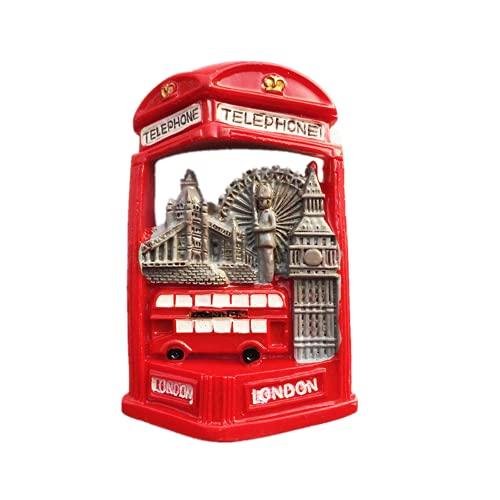 Imán para nevera 3D de Londres, Inglaterra, Reino Unido, colección de artesanía de resina