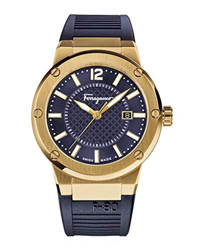 Salvatore Ferragamo F-80Hombres del dial de Color Azul Marino Reloj, Modelo: fif050015