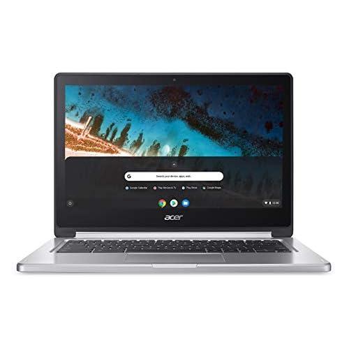 Acer Chromebook R 13 CB5-312T-K2K0 Notebook 13.3 Pollici, 1920 x 1080, 2,10 GHz, PowerVR GX6250, 4 GB, Argento, Tastiera layout tedesco QWERTZ