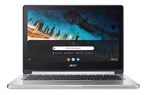 Acer Chromebook R 13 CB5-312T-K2K0 Notebook 13.3 Pollici, 1920 x 1080, 2,10 GHz, PowerVR GX6250, 4 GB, Argento, Tastiera layout tedesco QWERTZ