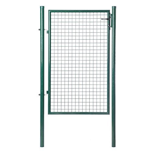 ZNL tuindeur tuindeur 125x100 cm groen golfrooster hoftor hek deur deur tuin EHYM02
