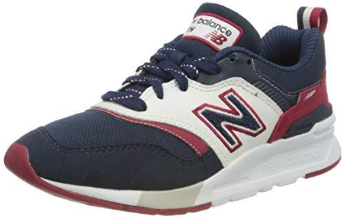 New Balance CM997HFE, Zapatillas Hombre, Indigo Neo Crimson Natural, 44.5 EU