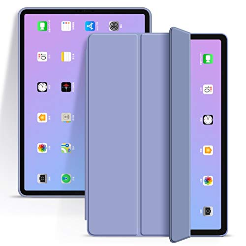 RZL PAD & TAB cases For iPad Pro 11 2020 2018 iPad 10.2 7th 8th Generation, Auto Sleep/Wake Soft TPU Back Smart Cover for iPad Air 4 10.9 Pro 11 2020 (Color : Lavender, Size : Pro 11 2020 2018)