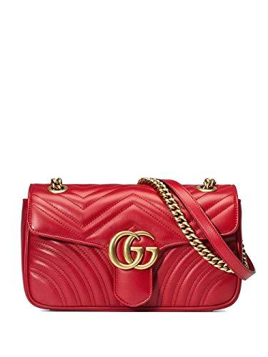 Luxury Fashion | Gucci Dames 443497DTDIT6433 Rood Leer Schoudertassen | Seizoen Permanent