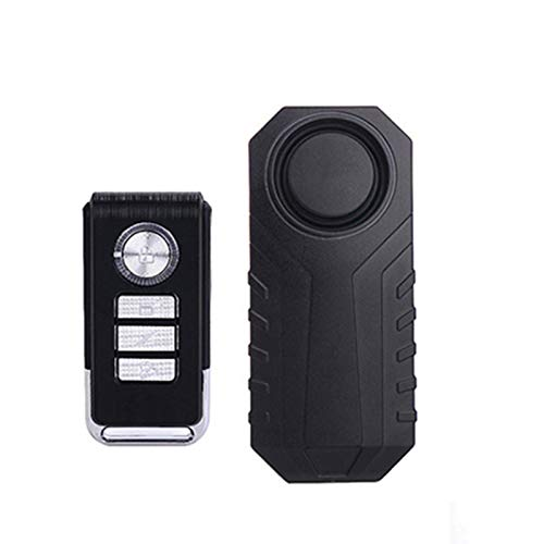 guoYL26sx Alarma De Bicicleta, Antirrobo para Vehículos De Motocicleta con Impermeable de Seguridad Alarma 113 dB con Mando a Distancia